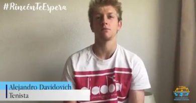 El tenista rinconero Alejandro Davidivich participó en la campaña de promoción del destino Rincón de la Victoria
