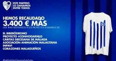 El Málaga recauda 3.400 euros más gracias a una camiseta solidaria que ayudará a otros seis proyectos