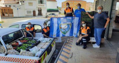 Rincón de la Victoria agradeció a la Peña Malaguista Conejito de Torrox 'Duda 17' por su campaña 'Ningún niño sin comida'