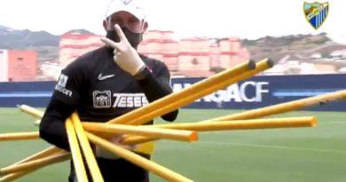 Josemi, el delegado de equipo del Málaga, un protagonista en las sombras