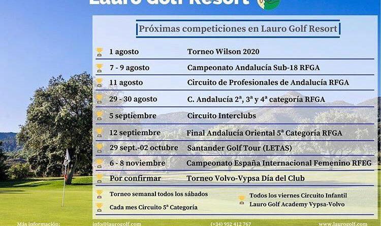 Lauro Golf acogerá cuatro competiciones en agosto con los mejores jugadores del panorama andaluz, nacional y europeo