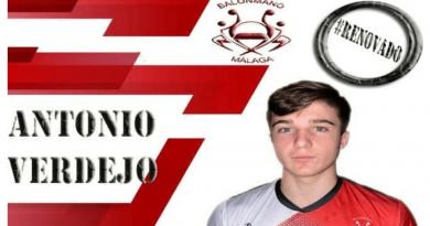 Antonio Verdejo, nueva apuesta por la cantera de Balonmano Málaga