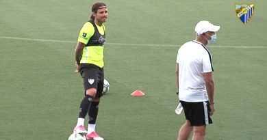 Aarón Ñíguez, en la recta final de su recuperación, bajo la supervisión del Málaga CF