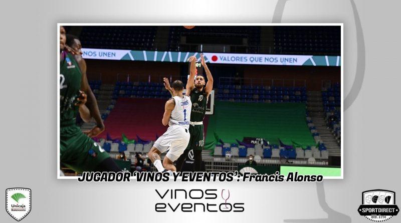 Francis Alonso, jugador Vinos y Eventos tras su despliegue anotador ante Buducnost