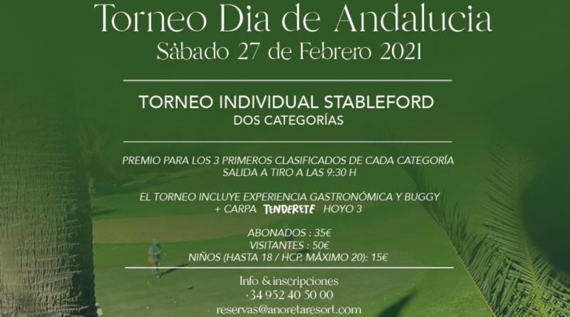 Añoreta Golf anuncia un torneo especial por el Día de Andalucía... con espacio para los más pequeños