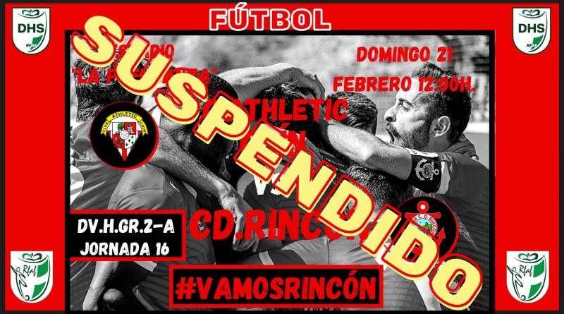 El Covid-19 vuelve a azotar al CD Rincón : suspendido el duelo frente al Athletic de Coín