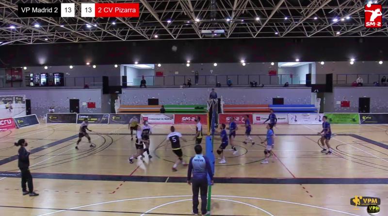 Triunfo agónico del Voleibol Pizarra en Madrid