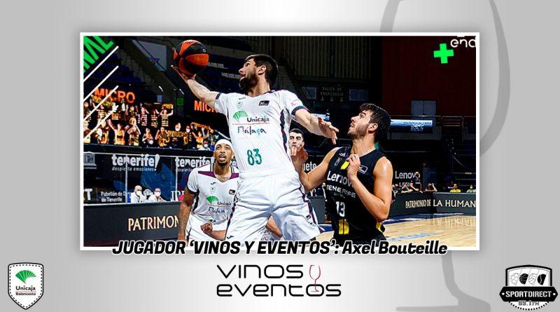 Axel Bouteille se lleva el Jugador Vinos y Eventos en la derrota ante el Lenovo Tenerife
