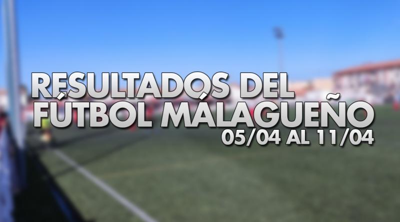 Resultados del fútbol malagueño en la semana del 5/4 al 11/4
