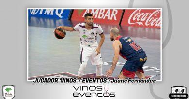 Jaime Fernández indiscutible ganador del Jugador Vinos y Eventos ante el Acusan GBC