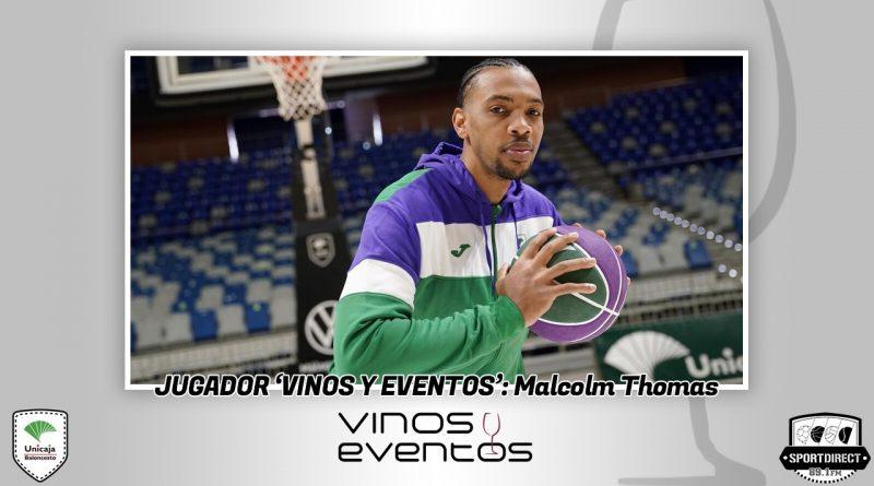 La exhibición de Malcom Thomas le lleva a conseguir el Jugador Vinos y Eventos