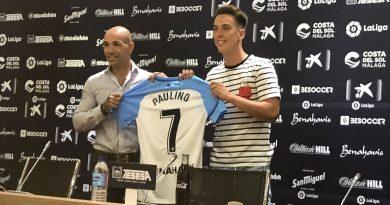 """Paulino, agradecido con el Málaga en su presentación: """"Es un club que ha apostado mucho por mí"""""""