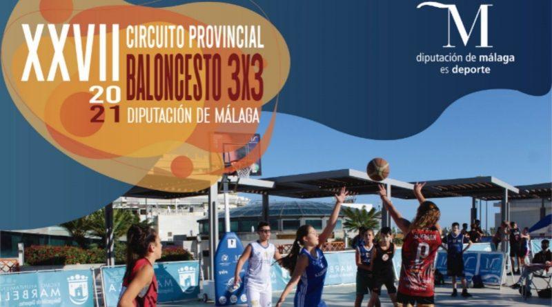 Más de 200 participantes en el XXVII Circuito Provincial de Baloncesto 3x3 de la Diputación que acogerá el Rincón de la Victoria