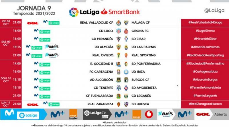 El Málaga visitará al Real Valladolid el viernes 8 de octubre a las 21:00 h